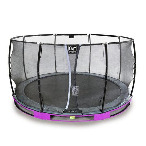 Batuts Exit Elegant Premium ar aizsargtīklu Deluxe, diametrs 427 cm, violets cena