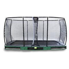 Batuts Exit Elegant Premium ar aizsargtīklu Deluxe, 244x427 cm, zaļš