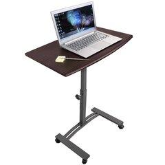Datora galds klēpjdatoram Tatkraft Salute, brūns
