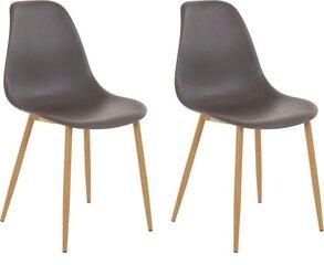 2-vu krēslu komplekts Miller PU, pelēks cena un informācija | Virtuves un ēdamistabas krēsli | 220.lv