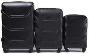 3 koferu komplekts Wings 147-3, melns