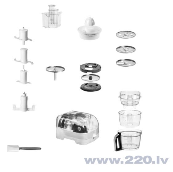KitchenAid 5KFP1644EER, Sarkans