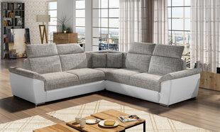 Stūra dīvāns Federico, krēmkrāsas/balts