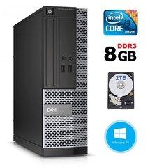 Dell 3020 SFF i3-4130 8GB 2TB DVDRW WIN10Pro cena un informācija | Dell 3020 SFF i3-4130 8GB 2TB DVDRW WIN10Pro | 220.lv