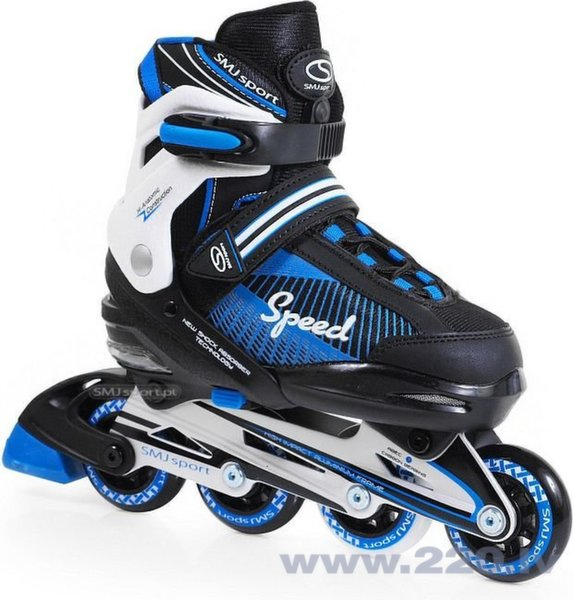 Regulējama izmēra skrituļslidas SMJ Sport 090A, zilas cena