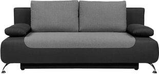 Dīvāns BRW Daria III Lux 3DL, pelēks/melns