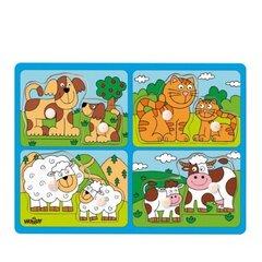 Koka puzle Dzīvnieki Woody 91913, 8 d.