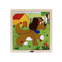Koka puzle Kucēns Woody, 93017, 4 d.