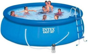 Baseins Intex Easy Set 457x122 cm, ar 12V filtru