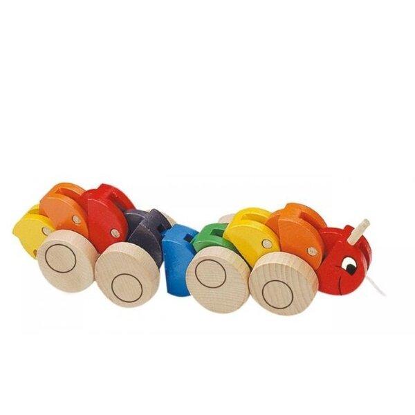 Koka rotaļlieta - simtkājis Woody 90135 cena un informācija | Rotaļlietas zīdaiņiem | 220.lv