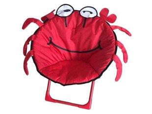 Bērnu saliekams krēsls Krabis, sarkans cena un informācija | Dārza mēbeles bērniem | 220.lv