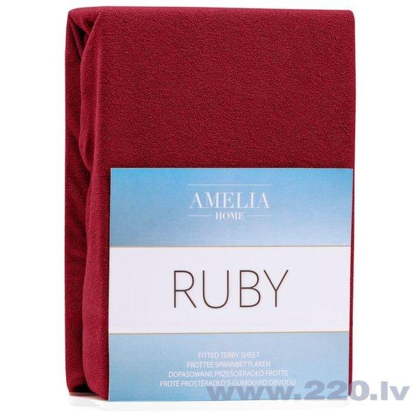 AmeliaHome махровая простыня с резинкой Ruby, 90x200 см