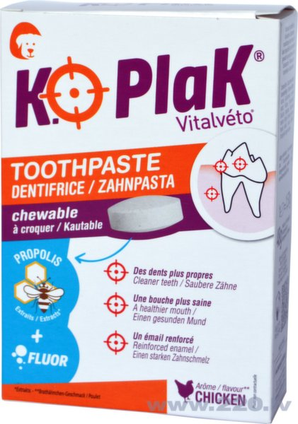 "Zobu pastas tabletes ""KO PLAK"""