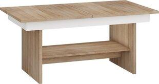 Paplašināms galds Dallas, ozola/baltā krāsā