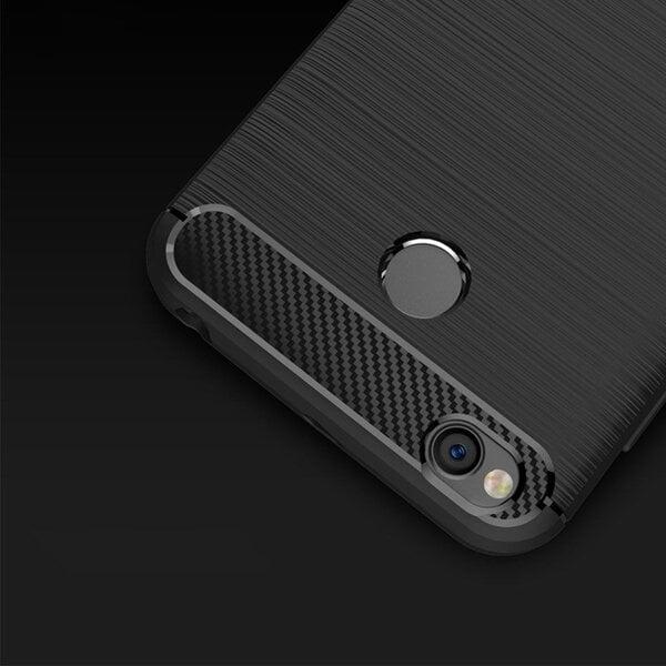 Carbon Case Flexible Cover TPU Case for Samsung Galaxy A6 2018 A600 black internetā