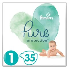 Подгузники PAMPERS PURE, Carry Pack размер 1, 35 шт.
