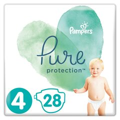 Подгузники PAMPERS PURE, Carry Pack размер 4, 28 шт.