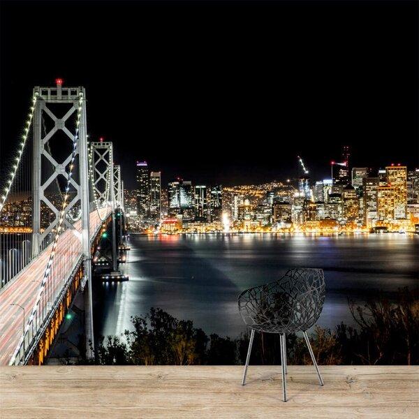 Fototapetes - Nakts pilsētā