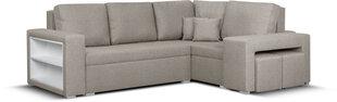 Mīksts stūra dīvāns ar pufiem Bellezza Milo5, smilškrāsas