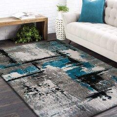 Paklājs pelēks/tirkīzs 120x170cm