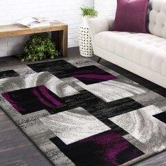 Paklājs pelēks/violets 160x220cm