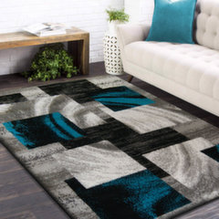 Paklājs pelēks/tirkīza 120x170cm