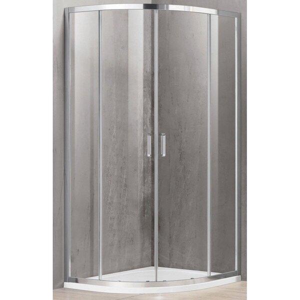 Dušas kabīne A2142 100x100 caurspīdīga bez paliktņa