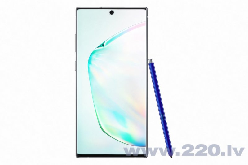 Samsung Galaxy Note 10 Plus, 256 GB, Dual SIM, Zils (Aura Glow)