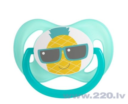 Simetriskais silikona knupītis Canpol Babies So Cool, 18+ mēn., 22/523, zils