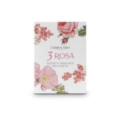 Smaržīgā aploksne L'Erbolario 3 Rosa 1 gab. cena un informācija | Mājas parfimērija | 220.lv