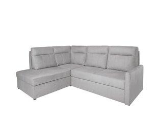Stūra dīvāns BRW Barlo, gaiši pelēks cena un informācija | Stūra dīvāni | 220.lv