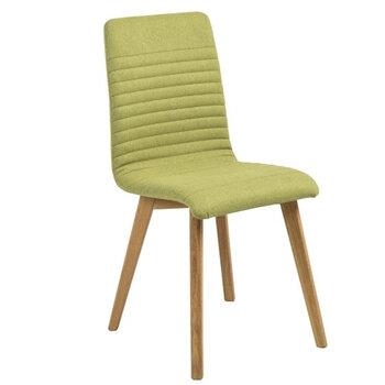 2-u krēslu komplekts Actona Arosa, zaļš/ozola krāsas cena un informācija | Virtuves un ēdamistabas krēsli | 220.lv