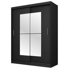 Skapis Selsey Vaniva 150 cm, melns cena un informācija | Skapji | 220.lv