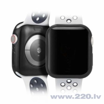 DUX DUCIS 2x Gel Case TPU Cover for Apple Watch 4 40mm black and transparent