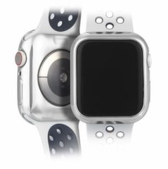 DUX DUCIS 2x Gel Case TPU Cover for Apple Watch 4 44mm silver and transparent