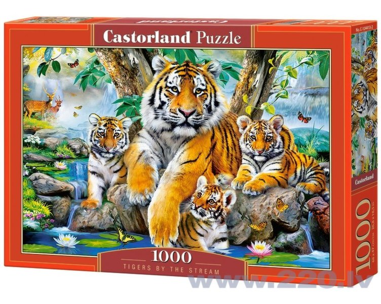 Puzle Puzzle Castorland Tigers by the Stream, 1000 detaļas