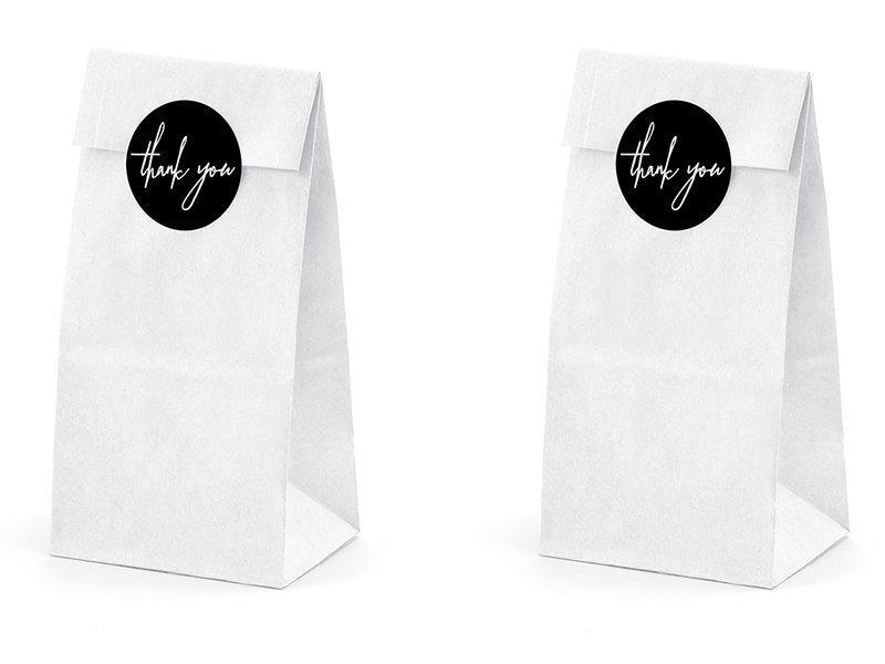 Uzkodu maisiņi White 8x18x6 cm (1 iepakojums / 6 gab.)