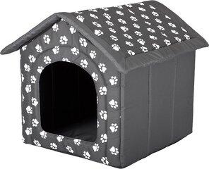 Gultiņa-būda Hobbydog R6 pēdas, 76x72x74 cm, pelēka
