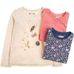 Cool Club krekls ar garām piedurknēm meitenēm, 3 gab., CCG1916090-00