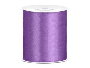 Satīna lente, gaiši violeta, 100 mm / 25 m, 1 gab. / 25 m cena un informācija | Dāvanu saiņošanas materiāli | 220.lv