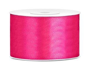 Satīna lente, tumši rozā, 38 mm/25 m, 1 kastē/25 gab. (1 gab./25 m) cena un informācija | Svētku atribūti | 220.lv