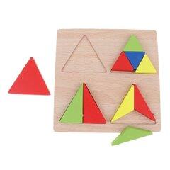 "Ģeometrisku formu koka puzle ""Trijstūri"""