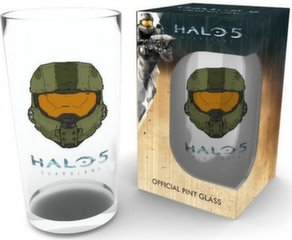 Halo 5: Guardians - Master Chief Mask Large Glass, 500мл