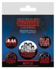 Badges 5-Pack - Stranger Things (Characters), 1x38mm x 4x25mm