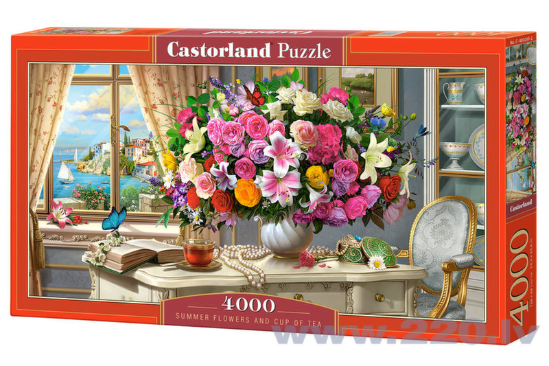 Puzle Puzzle Castorland Summer Flowers and Cup of Tea, 4000 gabaliņi