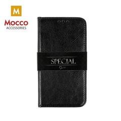 Aizsargmaciņš-statīvs Mocco Special Leather piemērots Samsung G960 Galaxy S9, Melns