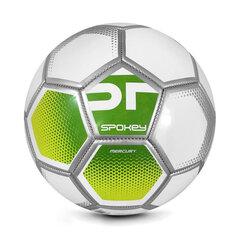 Futbola bumba Spokey Mercury, 5.izmērs, balta/zaļa cena un informācija | Futbola bumbas | 220.lv