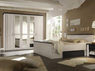 Guļamistabas mēbeļu komplekts BRW Luca 160 cm, balts/melns cena un informācija | Komplekti guļamistabai | 220.lv