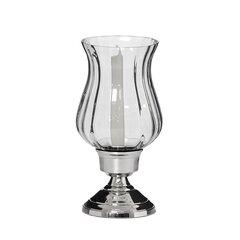 Svečturis 1 svecei, niķelēts metāls ar stiklu