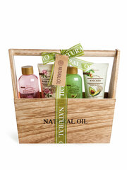 Vannas komplekts IDC Institute Natural Oil Wooden Basket